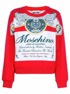 Moschino boxy printed sweatshirt - White