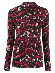 Dorothee Schumacher floral slim jumper - Grey