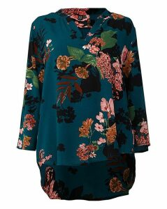 Izabel London Curve Floral Printed Shirt