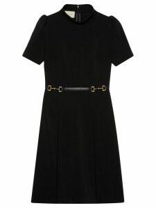 Gucci horsebit belt dress - Black