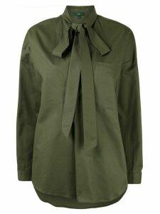 Jejia bow neck shirt - Green