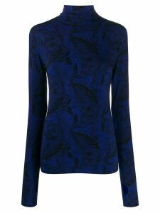 Dorothee Schumacher Tiger print jumper - Blue