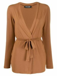 Styland belted lightweight cardigan - Brown