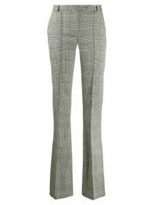 Styland straight-leg check trousers - Grey