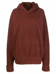 Styland oversized shearling hoodie - Brown