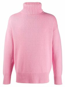Extreme Cashmere roll-neck knit jumper - PINK