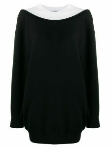 Alexander Wang layered boxy fit sweater - Black