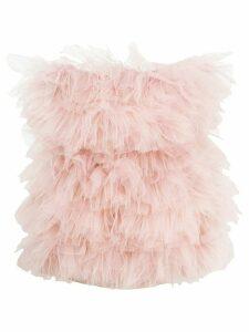 Loulou ruffled tulle mini dress - PINK