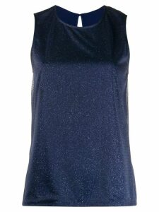 Styland lurex sleeveless blouse - Blue