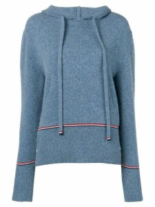 Thom Browne RWB Tipping Over-Washed Pullover - Blue