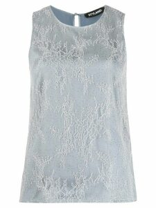 Styland embellished lace overlay blouse - Grey