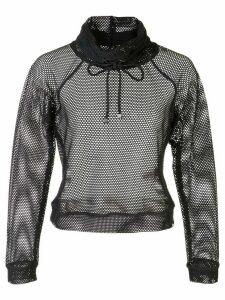 Koral Pump open mesh sweater - Black