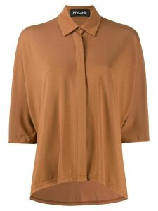 Styland concealed button shirt - Brown
