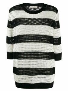 Dorothee Schumacher knitted striped jumper - Black