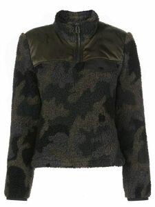 Veronica Beard Kylan Sherpa Pullover - Green