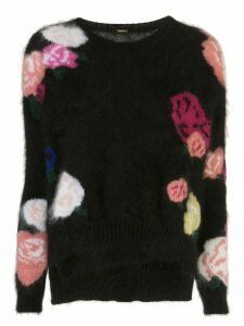 Adam Lippes multi floral knit jumper - Black