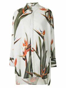 Osklen Strelitza print oversized shirt - White