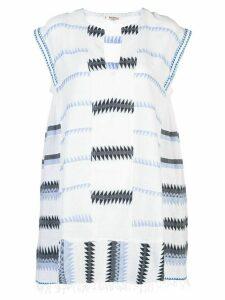 lemlem Aster swing kaftan dress - White
