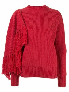 Sacai draped panel jumper - Red