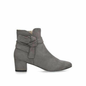 Nine West Carson - Grey Block Heel Ankle Boots