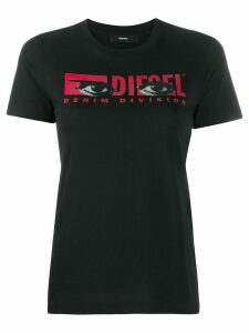 Diesel logo eye print T-shirt - Black