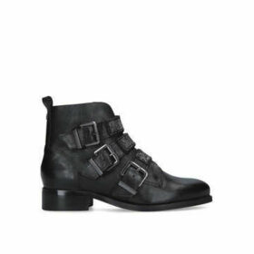 Carvela Tempered - Black Biker Boots With Embellished Straps