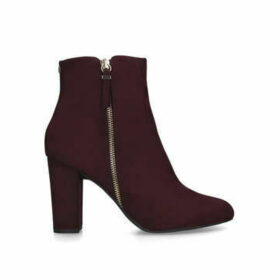 Nine West Courtney - Wine Block Heel Ankle Boots