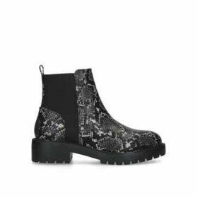 Steve Madden Gliding - Grey Snake Print Chelsea Boots