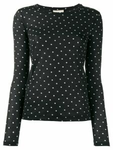 Semicouture polka dot print jersey top - Black