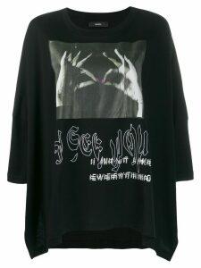 Diesel photograph print kaftan T-shirt - Black