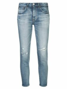 Moussy Vintage distressed skinny jeans - Blue