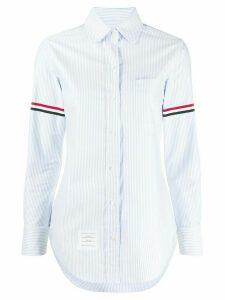 Thom Browne Grosgrain Armband Stripe Classic Shirt - Blue