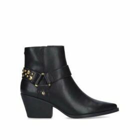 KG Kurt Geiger Tick - Black Studded Western Style Ankle Boots