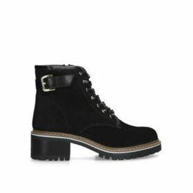 Carvela Tame - Black Buckle Detail Hiker Boots