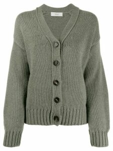 Pringle of Scotland cropped chunky knit cardigan - Green
