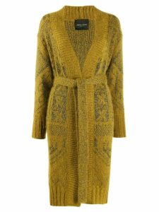 Roberto Collina belted embroidered cardigan - Yellow