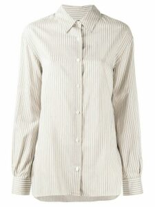Nili Lotan boxy fit striped shirt - White