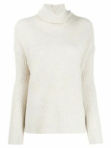 Pringle of Scotland ribbed knit turtleneck sweater - NEUTRALS