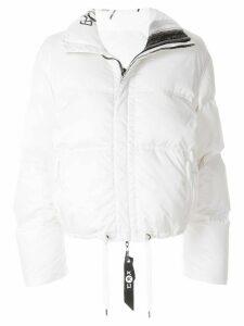 Kru reversible down puffer jacket - White