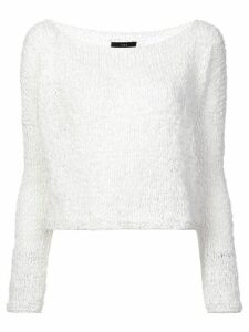 Voz Twist cropped sweater - White
