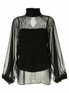 CAMILLA AND MARC sheer funnel neck blouse - Black