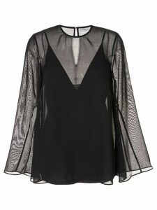 CAMILLA AND MARC sheer wide-sleeve blouse - Blue