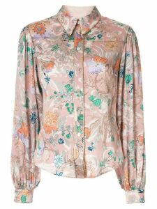 Peter Pilotto floral print wrinkle shirt - PINK