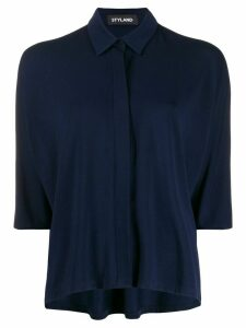 Styland asymmetric hem shirt - Blue