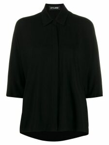Styland boxy fit cropped sleeve blouse - Black