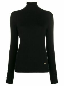 Trussardi Jeans long sleeve turtle neck top - Black