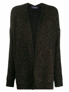 Trussardi Jeans metallic open-front cardigan - Black