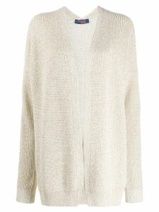 Trussardi Jeans oversized open-front cardigan - White