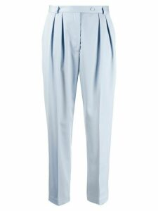 Styland tapered high waisted trousers - Blue