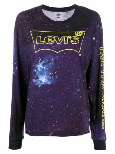 Levi's logo Star Wars long-sleeve top - Blue